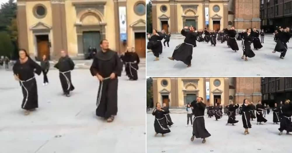Video shows people in Italy dressed as monks dancing to Jerusalema