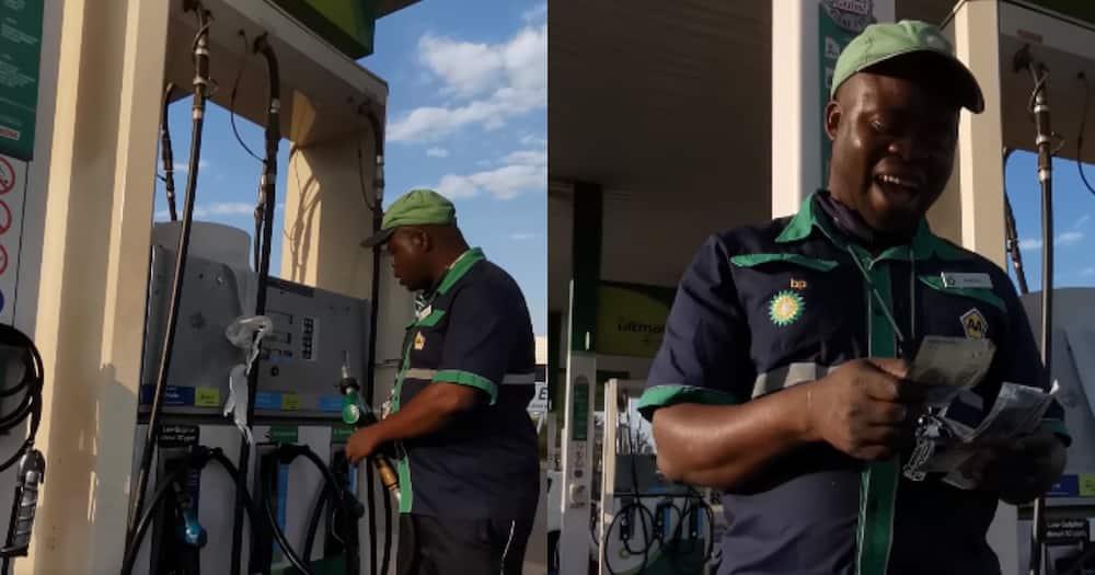 Faceless hero BI Phakathi blesses unsuspecting petrol attendant