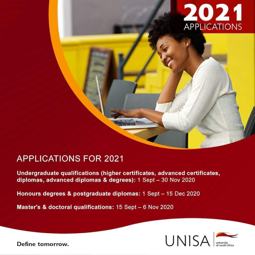 Unisa application dates 2021