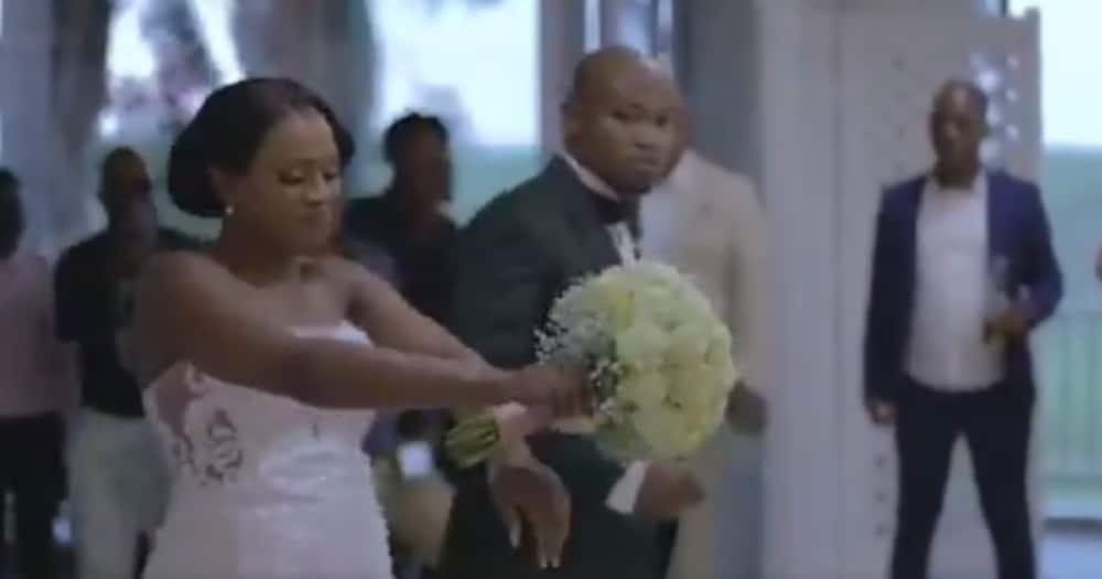Stunning SA Couple Go Viral After Doing an Eccentric Wedding Entrance