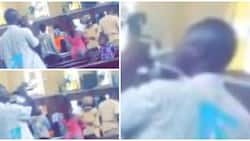 Man filmed taking his 'communion bread' with soda during church service