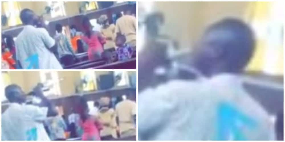 Man takes his 'communion bread' with a soda he came to church with in trending video