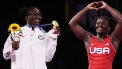 Tamyra Mensah Stock at Tokyo 2020: Lady Turns 1st Black Woman to win gold Medal in Wrestling at Olympics