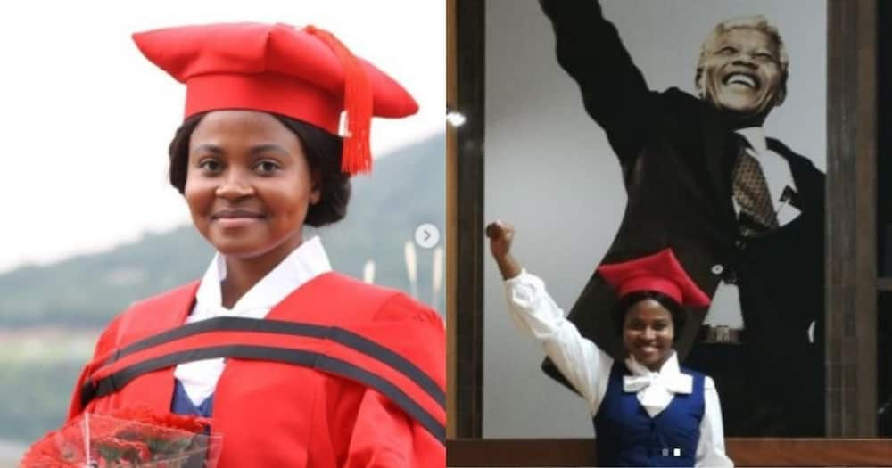Stunning lady celebrates getting her doctorate in law