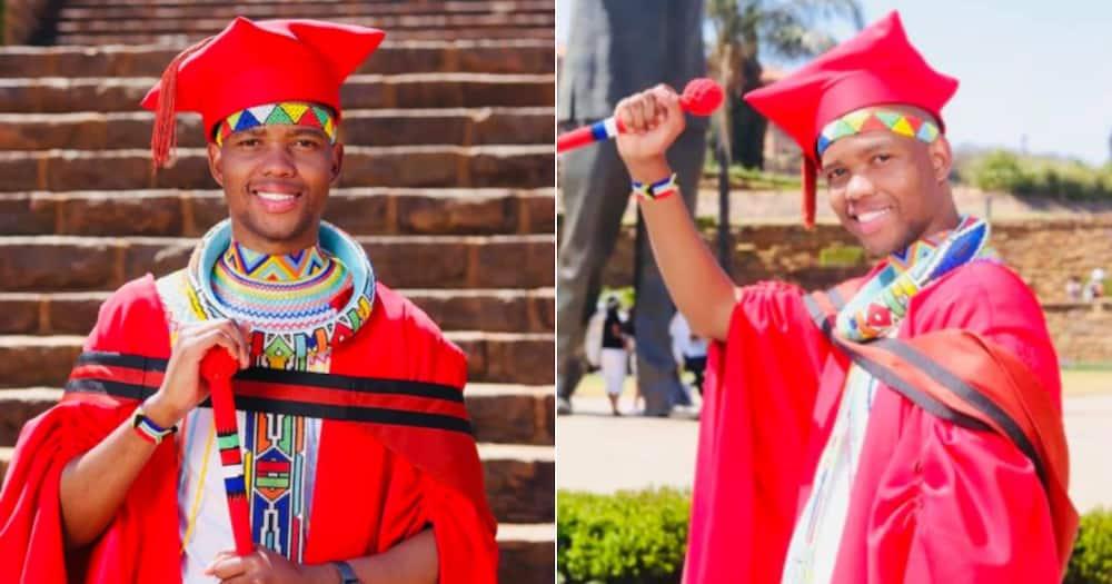 Man, Graduates, doctor, pays tribute, ancestors, traditional attire, graduation. Twitter reactions