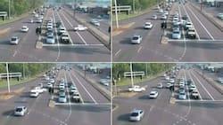 Yoh: Video shows Hilux bakkie speeding past moving traffic, SA glad no one got hurt