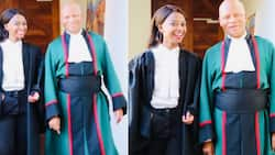 Stunning young lady celebrates Chief Justice Mogoeng's last day in office