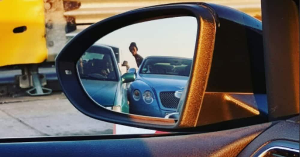 Bad driver, Almera, Bentley, damaged, Twitter reactions