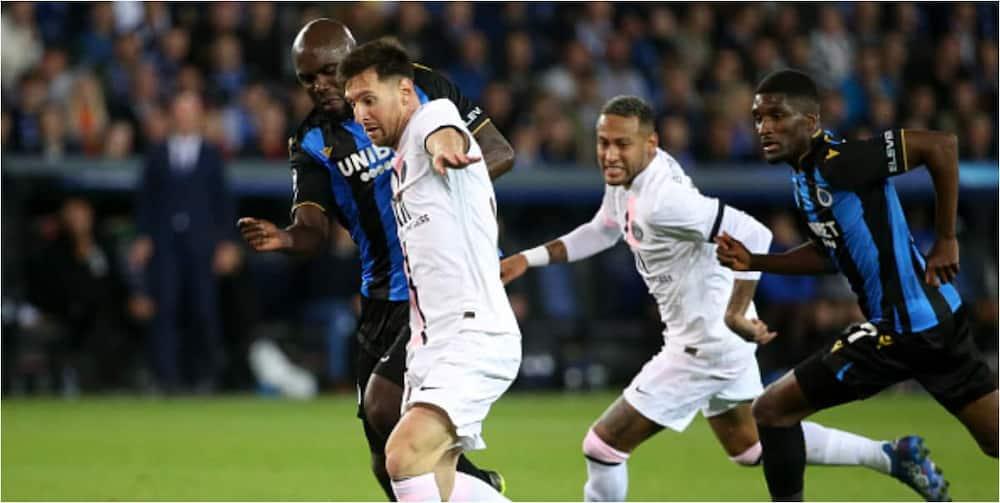 Lionel Messi, First game, Paris Saint-Germain, Champions League, Club Brugge
