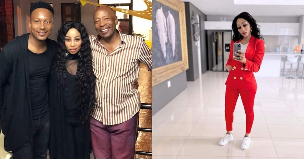 Khanyi Mbau's ex Tebogo Lerole pens touching letter to her late father