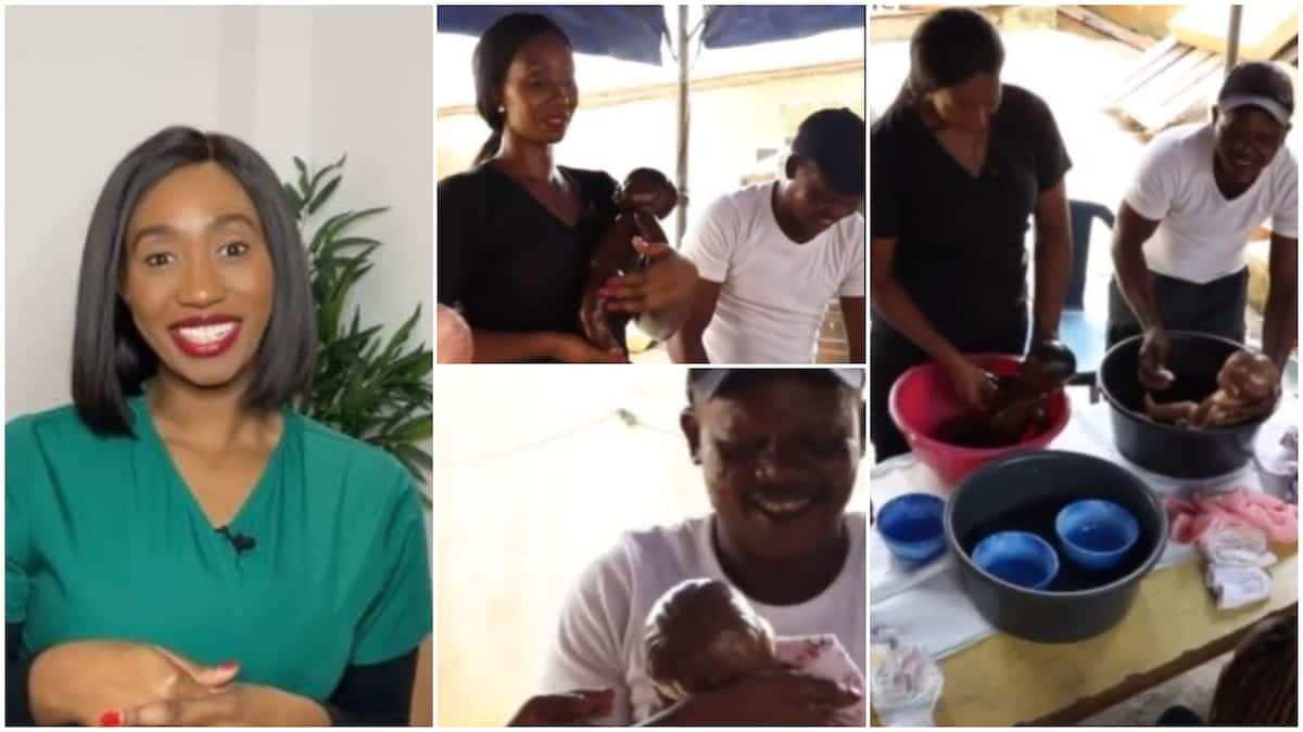 Lady organises class for men, teaches them how to bathe babies & change diapers