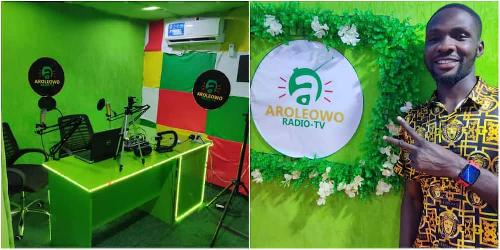 This is awesome: Many react as Nigerian man commissions his 1-room radio-TV station, shares photos