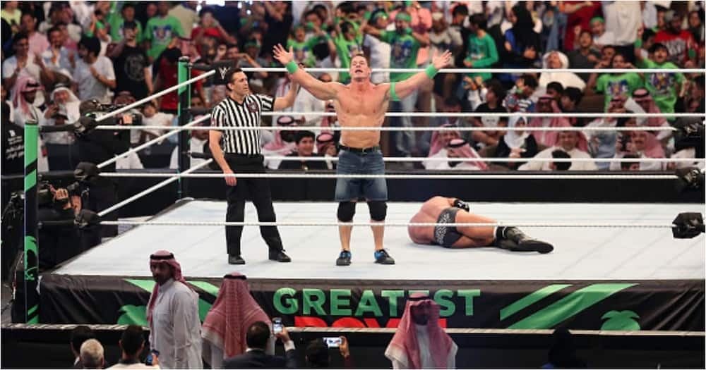 A file photo of John Cena while in action for WWE. Photo: Getty Images.