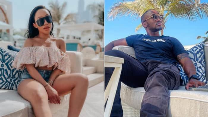 Thando Thabethe and her loved up man Lunga Shabalala take baecation to lush and sunny Dubai