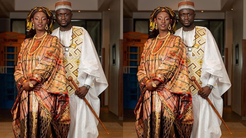 Senegalese traditional wedding dress