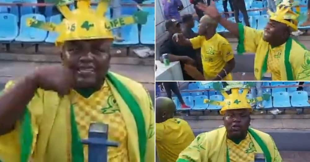 Funny video shows fan complaining after the Sundowns lost, SA reacts