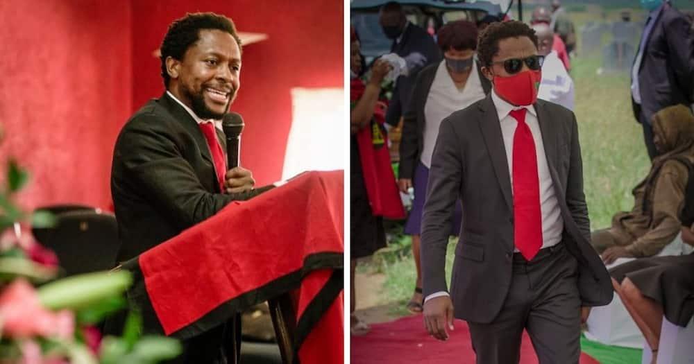 EFF's Mbuyiseni Ndlozi has caused another stir on Twitter. Image: @Mbuyiseni Ndlozi/Twitter