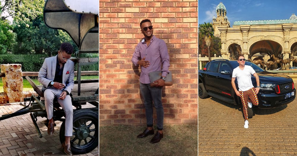 Sexy South African men take part in a challenge on social media