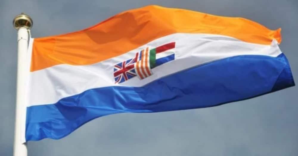 Apartheid flag for sale surprises passing motorist on the N7