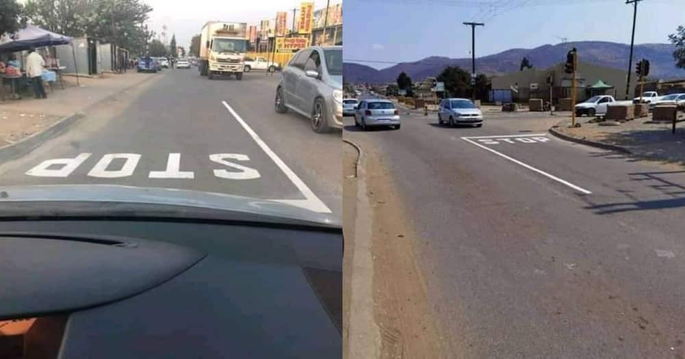 Eish: Disappointed man shares kasi street sign flop, Mzansi reacts