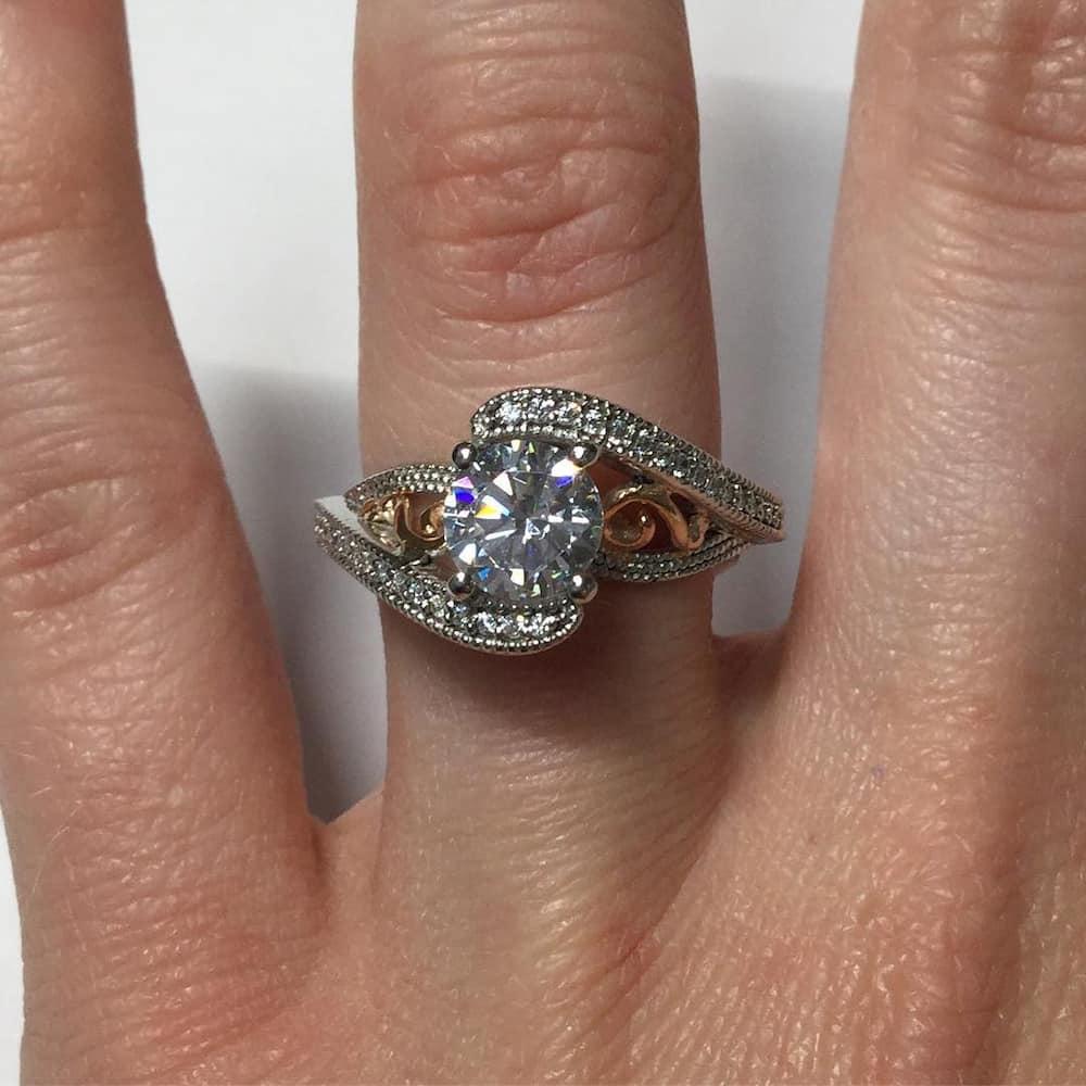 American swiss wedding rings