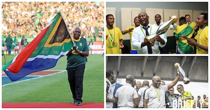 Pitso Mosimane honoured and humbled to carry SA flag at Loftus rugby match