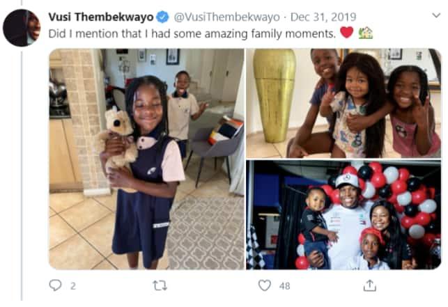 Vusi Thembekwayo children