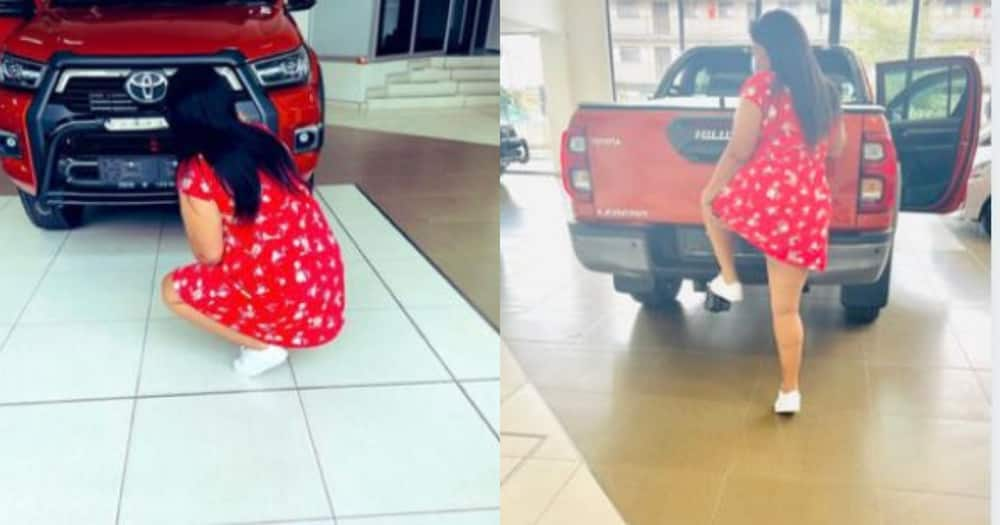 Eish: Girl Flexes Her New Whip on Twitter, Gets Hijacked on Same Day