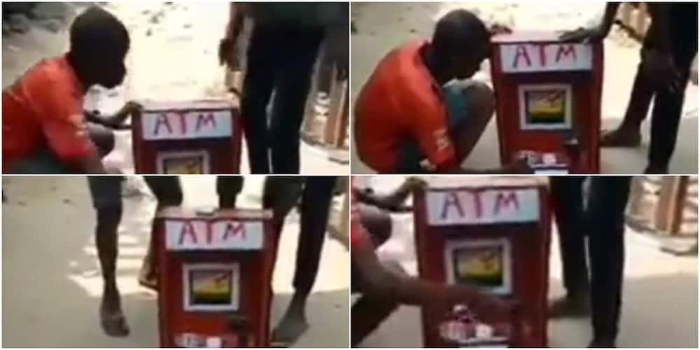 Nigerian boy builds ATM