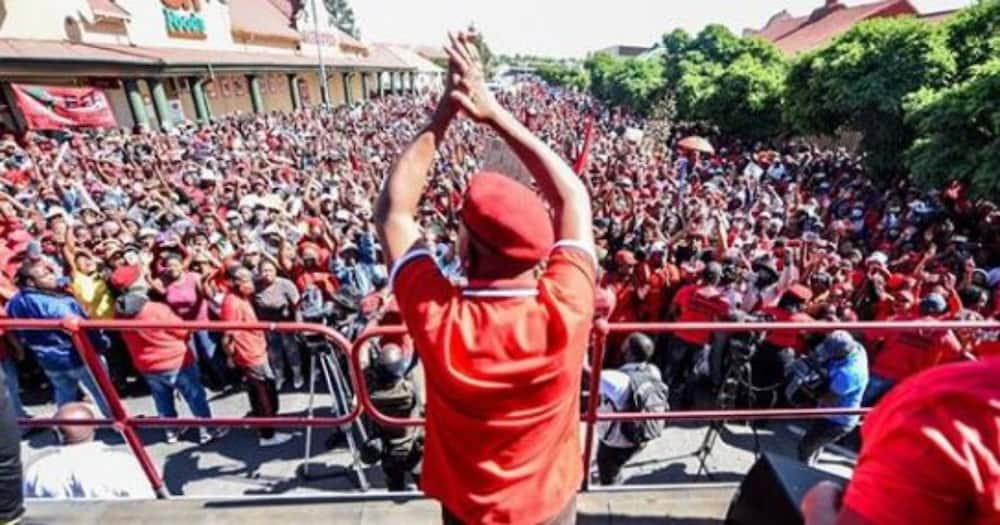 South Africans have flooded social media with messages of praise for the EFF. Photo credit: Instagram/effsouthafrica
