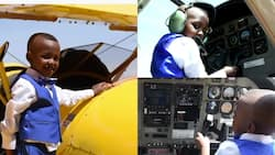 4-year-old boy is already studying aviation due to his love for helicopters