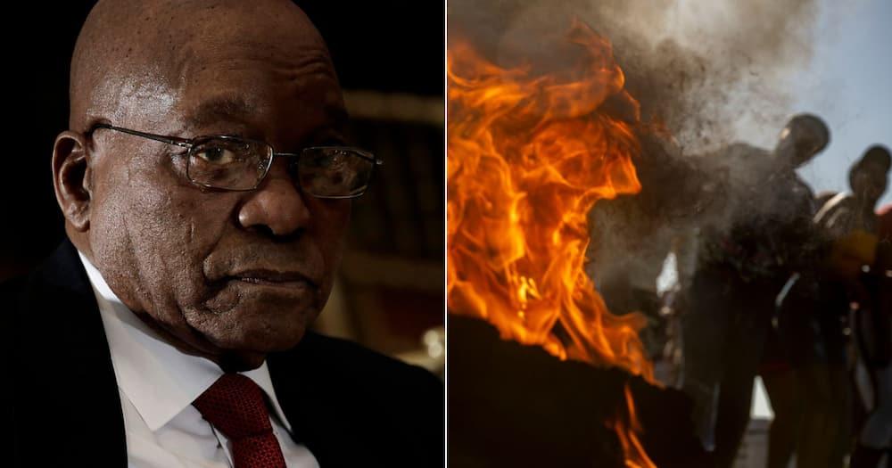 KwaZulu-Natal, Protests, Jacob Zuma, Demonstrations, Protests, Arrest, Estcourt Correctional Services Centre, Ronald Lamola, Bheki Cele, Minister