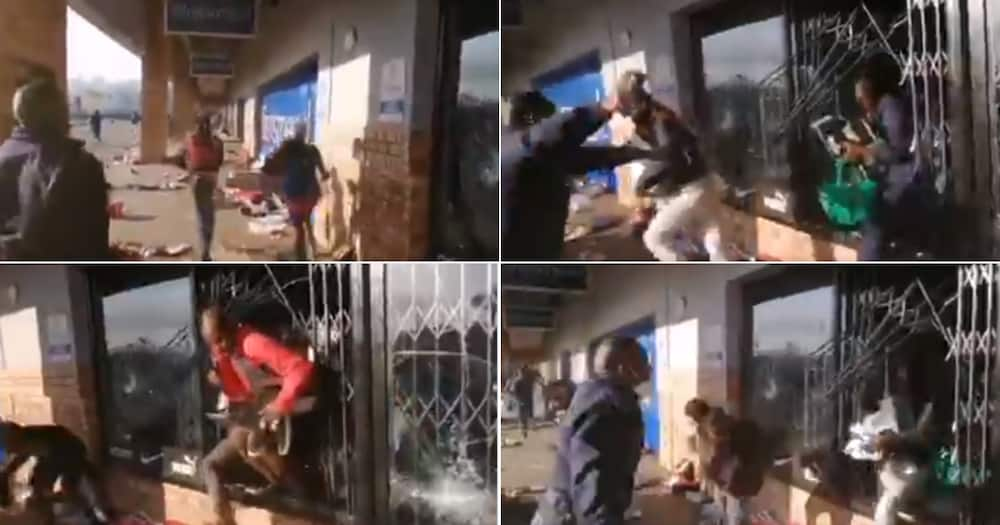 Video, Cops, Looters, Letting them go, Twitter reactions