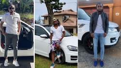 Best of times: Siphiwe Tshabalala gives Mzansi a glimpse of his impressive whips