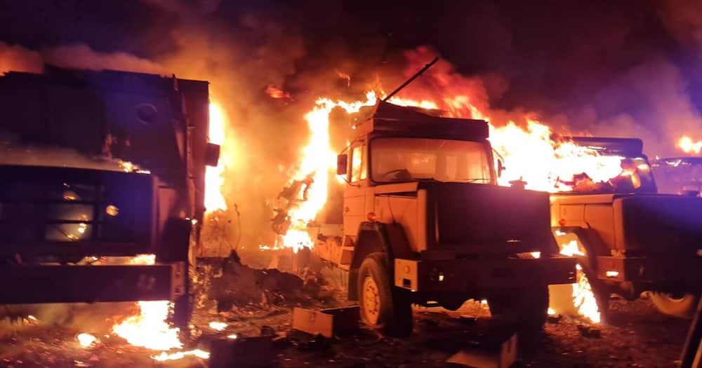 Military Vehicles, Fire, Pretoria, Military Base, SANDF