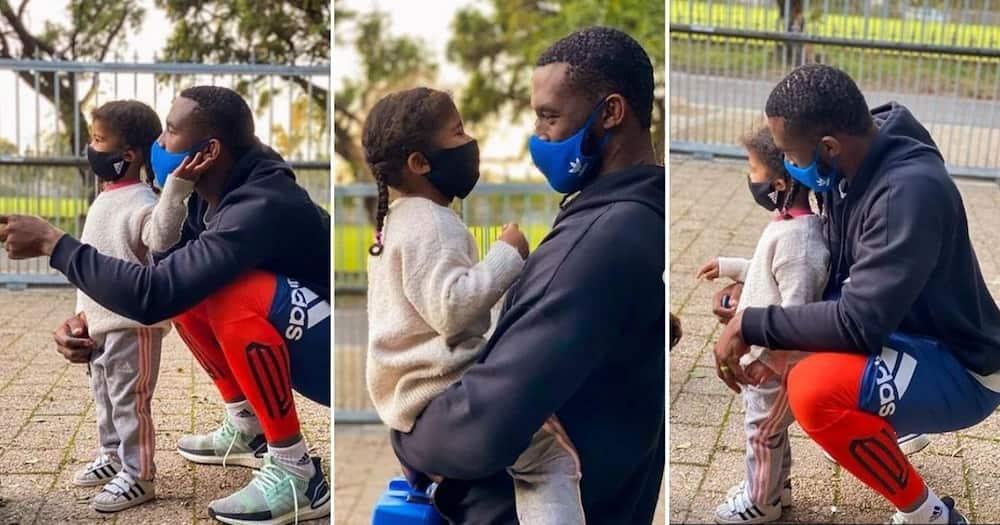 Siya Kolisi posts adorable pics with daughter as she returns to school