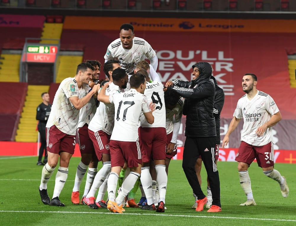 Liverpool vs Arsenal: Gunners beat Reds on penalties to reach EFL Cup quarterfinals