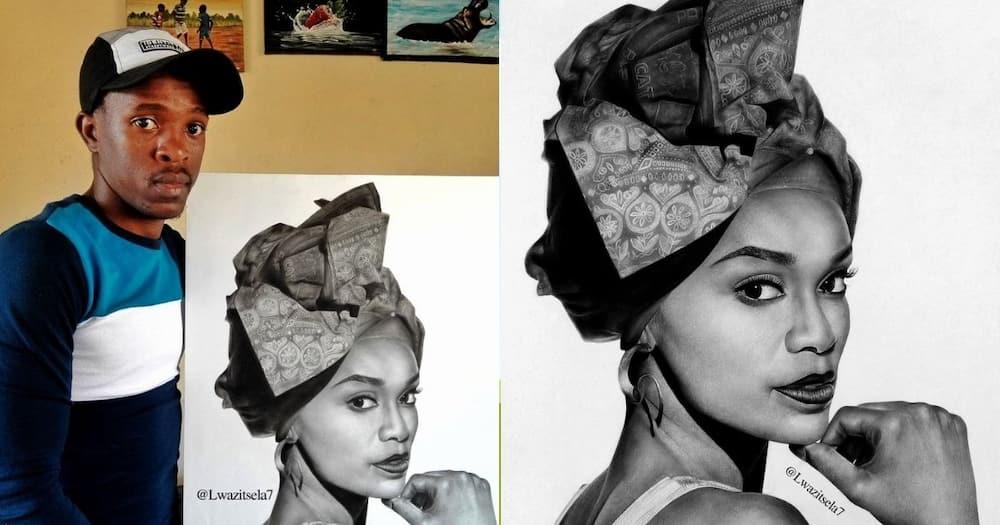 Young, Artist, Mzansi, Drawing, Pearl Thusi