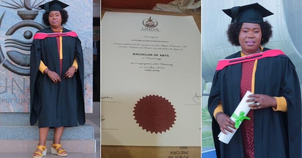 Meet Edith Hlongwane, From Security Officer to BA Degree Holder