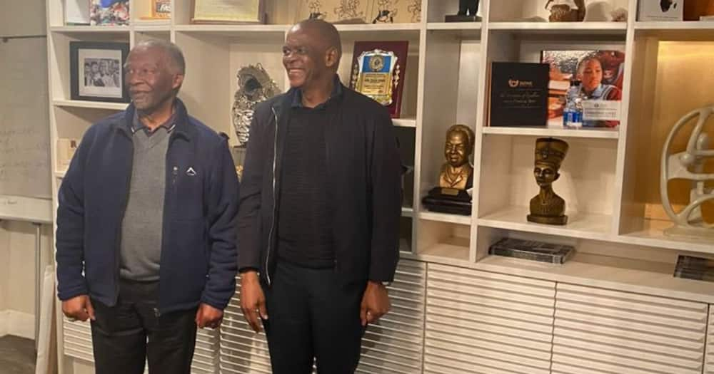 Ace Magashule Rubbing Shoulders With Thabo Mbeki Leaves SA Buzzing