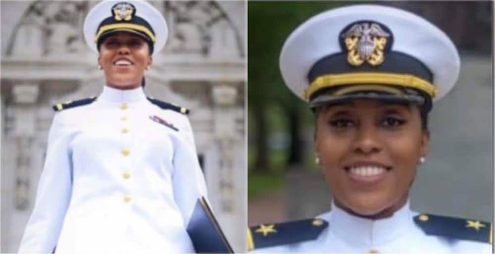 PHOTOS: Young Black lady celebrated as she graduates from the US Naval Academy