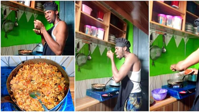 My future wife is covered, I will be her maid; man says, flexes cooking skills