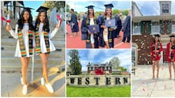 Beautiful identical twins graduate from university together, stun with lovely photos