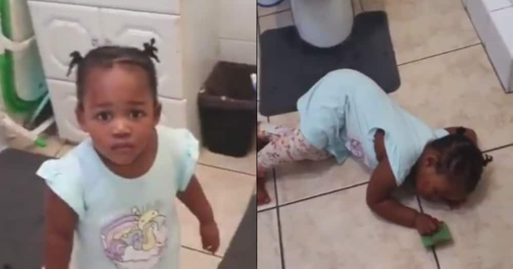 SA Can't Deal: Baby Plays Dead After Getting Caught Writing on Wall