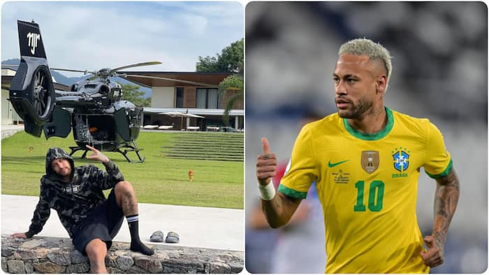 PSG star Neymar flaunts R148 million private helicopter during summer break after Copa America disappointment