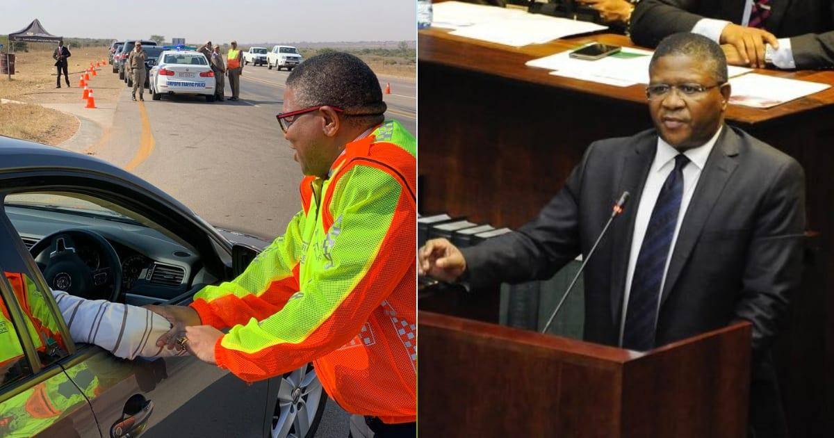 Mzansi shares hilarious reactions to Mbaks working at road blocks