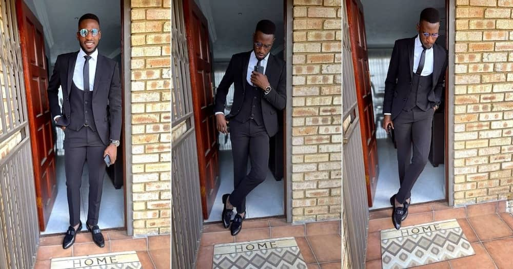 Orlando Pirates midfielder Fortune Makaringe has impressed his fans in a stylish suit on social media. Image: Instagram