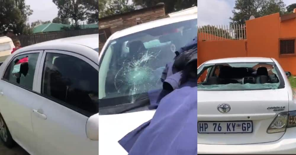 """""""Mjolo the Pandemic"""": Angry Lady Destroys Exes Car, Clip Shared Online"""