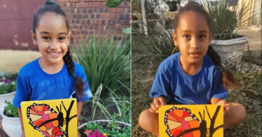 Gabriella, Girl, 8-year-old, Painting, Talented, Social media reactions