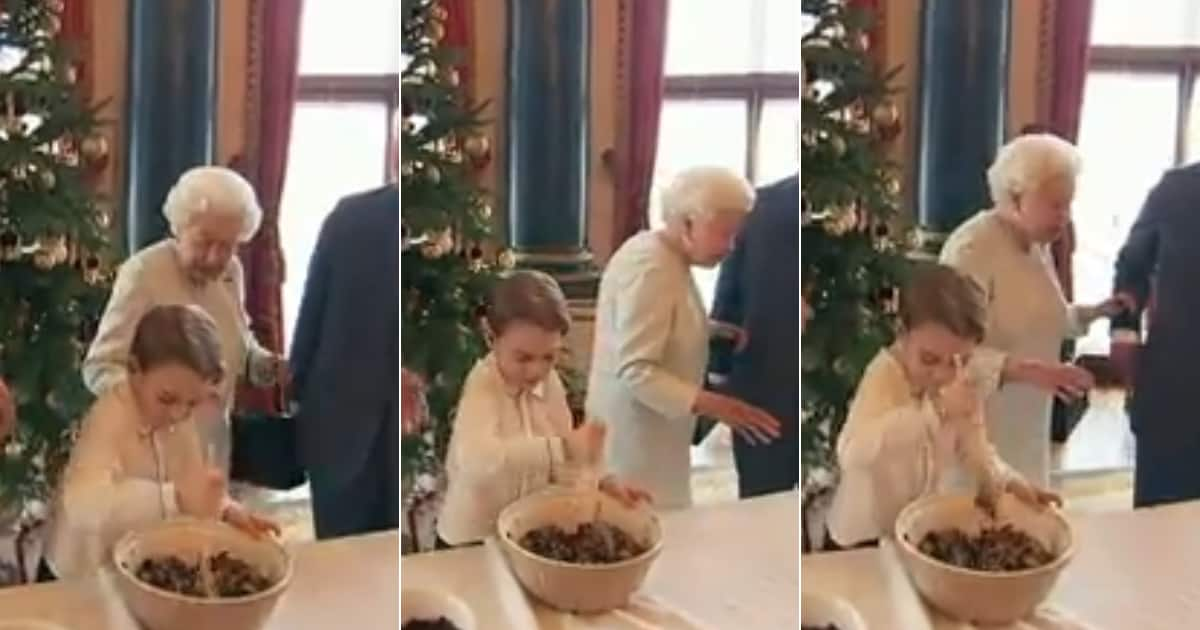Video showing the Queen quickly back away from Prince George goes viral - Briefly.co.za